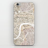 london map iPhone & iPod Skins featuring London map by Mapsland