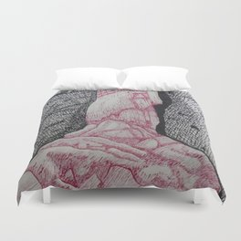 Ice Waterfall Duvet Cover