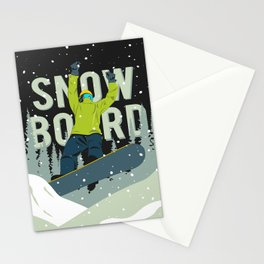 Snowboard Stationery Cards