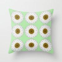 daisy Throw Pillows featuring Daisy by Lorelei Douglas