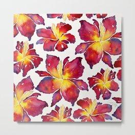 Iris Bloom – Red Palette Metal Print