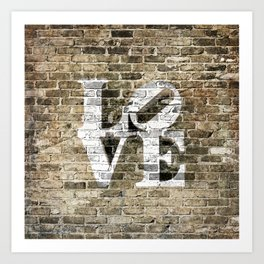 LOVE - PHILLY STYLE Art Print
