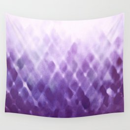 Diamond Fade in Violet Wall Tapestry