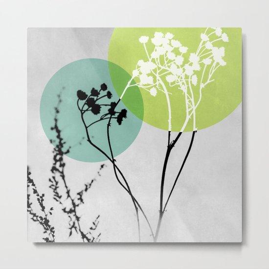 Abstract Flowers 2 Metal Print