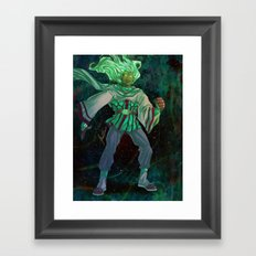 God - The Star Player Framed Art Print