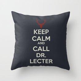 Keep Calm and Call Dr. Lecter Throw Pillow
