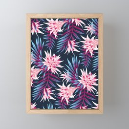 Fasciata Tropical - Dark Purple Pale Pink Framed Mini Art Print
