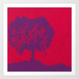 Fruit Tree Series, Red IV Art Print