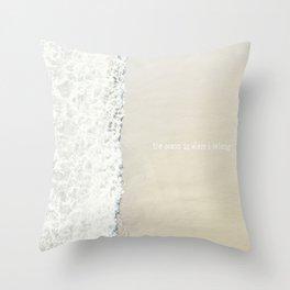 Beach Wave Typography Throw Pillow