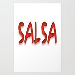 Salsa Enrique Red Art Print