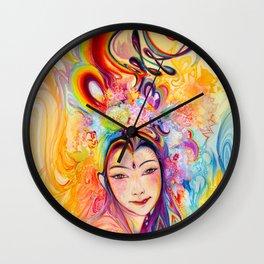 Rainbow Goddess (1) Wall Clock