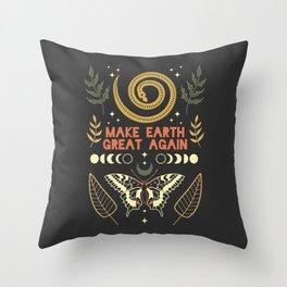 Make Earth Great Again Throw Pillow