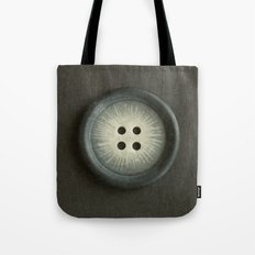 Vintage Grey Button Tote Bag