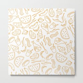 Modern Sweet Food Pattern Art Metal Print