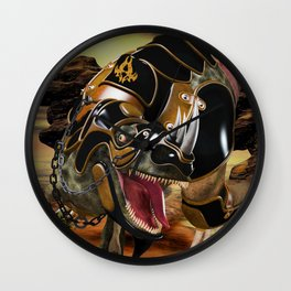 T-Rex with armor Wall Clock