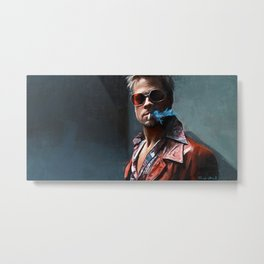 In Tyler Durden We Trust - Fight Metal Print