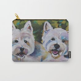 Westie Impressionism Pet Portrait Larsen 1 Carry-All Pouch