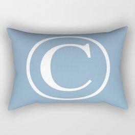 Copyright sign on placid blue background Rectangular Pillow