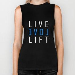 LIVE LOVE LIFT WOMEN RACERBACK TANK TOP CROSSFIT WOD FIT TRAIN YOGA GYM gym crossfit lifting Biker Tank