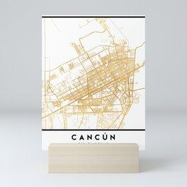 CANCUN MEXICO CITY STREET MAP ART Mini Art Print