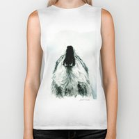 howl Biker Tanks featuring HOWL by Joelle Poulos