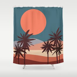 Abstract Landscape 13 Portrait Shower Curtain