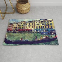 Venice Channel Gondola Italy Architecture Rug