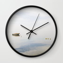 Water reflections on Garda lake Wall Clock