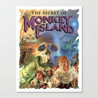 monkey island Canvas Prints featuring Monkey Island by idaspark
