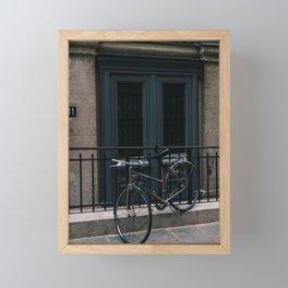 Paris Bicycle III Framed Mini Art Print