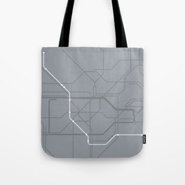 London Underground Jubilee Line Route Tube Map Tote Bag