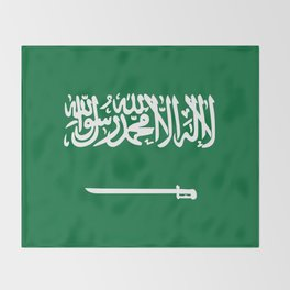 Saudi Arabia Flag Throw Blanket