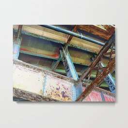 Beams and Girders - Charles River Overpass Metal Print