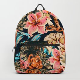 Wild animals in the dark of the jungle 2 Backpack
