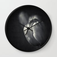 tulip Wall Clocks featuring tuLip by Dirk Wuestenhagen Imagery