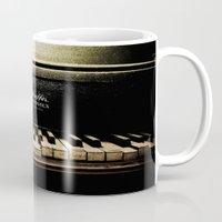 piano Mugs featuring Piano by eden frangipane