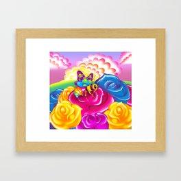 1997 Neon Rainbow Beelzebub Framed Art Print