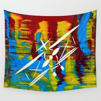 airplane Wall Tapestries featuring Airplane by Lue Brentwood