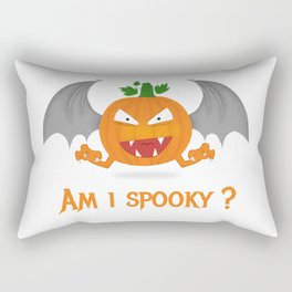 Funny spooky halloween pumpkin Rectangular Pillow