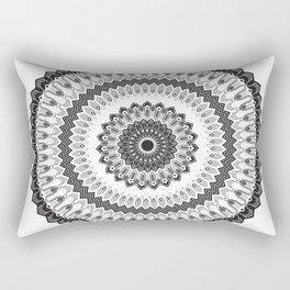 Art Deco & Navajo Fusion Inspired Mandala Rectangular Pillow