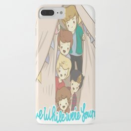One Direction Live Like We're Young Cartoon 2 iPhone Case