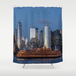New York City at Night Shower Curtain