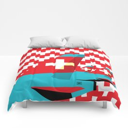 Switzerland by Air Comforters