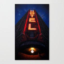 Crossroads Hotel Canvas Print