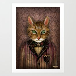 Sir Harold And His Mouse Betty Art Print