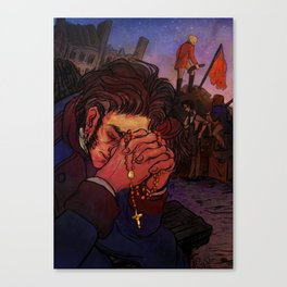 Valjean at the barricade Canvas Print