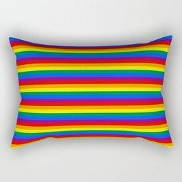 Mini Gay Pride Rainbow Flag Stripes Rectangular Pillow