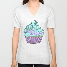 RIOTS NOT DIETS (cupcakes) Unisex V-Neck