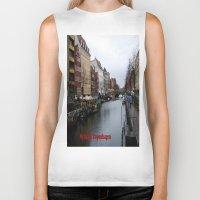 copenhagen Biker Tanks featuring Nyhavn, Copenhagen  by Created by Eleni