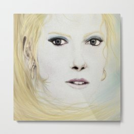 Girl with Flaxen Hair Metal Print